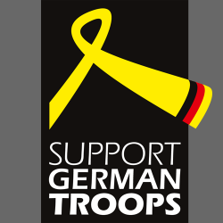 "Aufkleber ""Logo Support German Troops"""